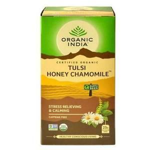 Bilde av Organic India Tulsi Honey Chamomile Tea 25 poser