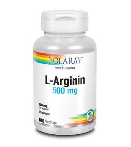 Bilde av Solaray L-Arginin 500 mg 100 kapsler