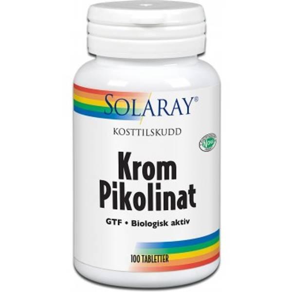 Solaray Krom Pikolinat 125 mcg 100 tabletter