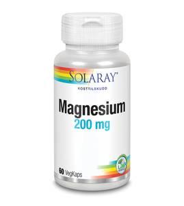 Bilde av Solaray Magnesium 200 mg 60 kapsler