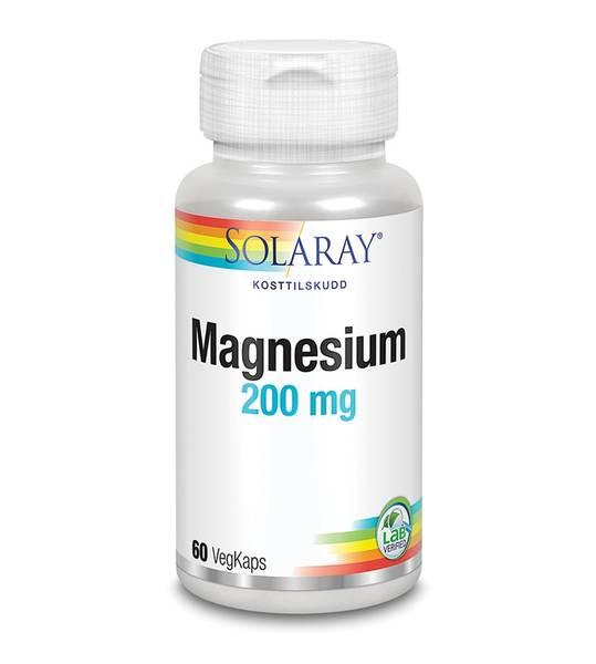 Solaray Magnesium 200 mg 60 kapsler