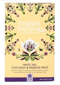 Bilde av English Tea Shop White Tea Coconut & Passionfruit 20 poser