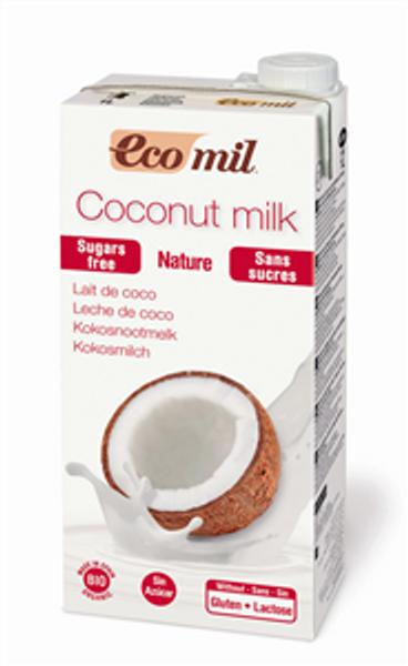 EcoMil Kokosmelk naturell 1 liter